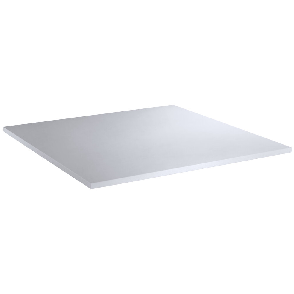 Regency 30 inch x 30 inch Poly Top Equipment Table Top for 30 inch x 60 inch 14-Gauge 304 Stainless Steel Poly Top Table