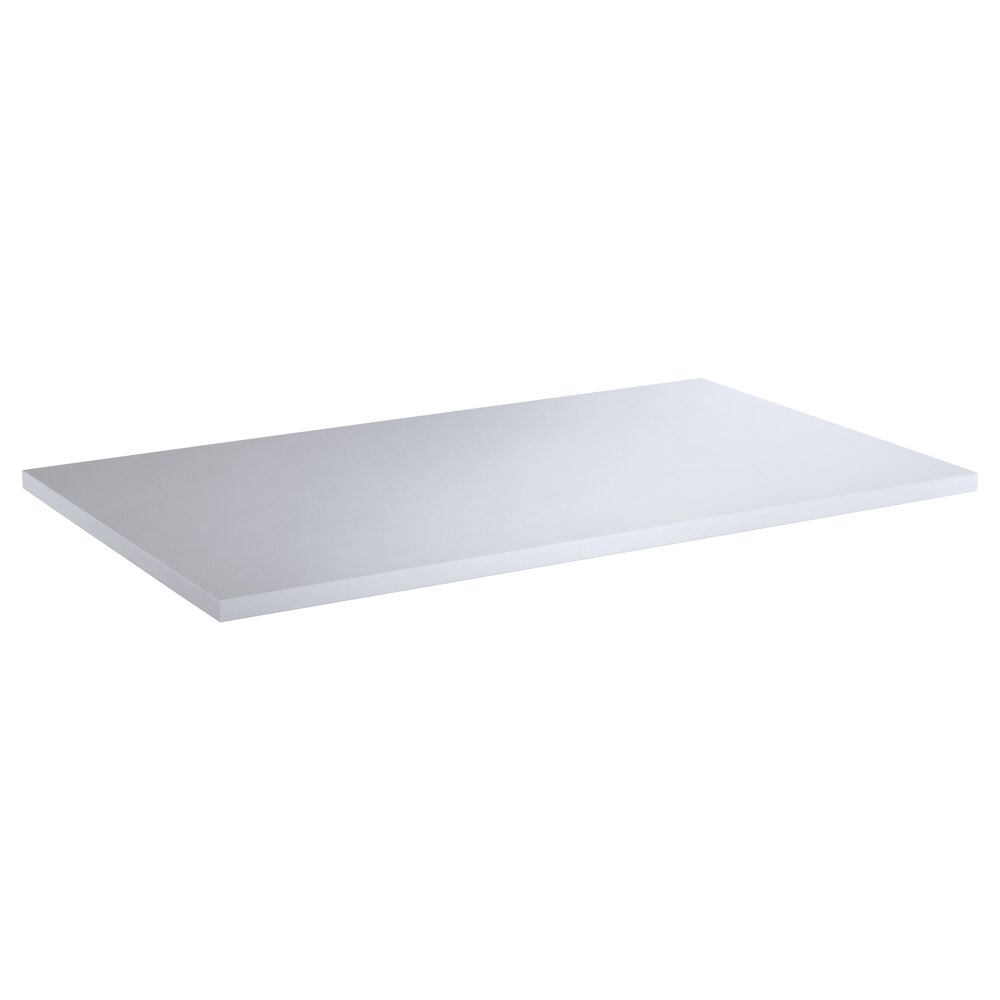 Regency 18 inch x 30 inch Poly Top Equipment Table Top for 24 inch x 60 inch 14-Gauge 304 Stainless Steel Poly Top Table with Backsplash