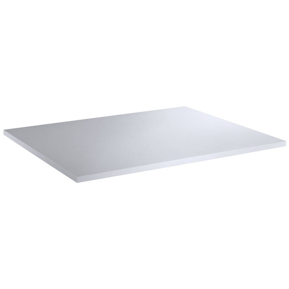 Regency 24 inch x 30 inch Poly Top Equipment Table Top for 24 inch x 60 inch 14-Gauge 304 Stainless Steel Poly Top Table