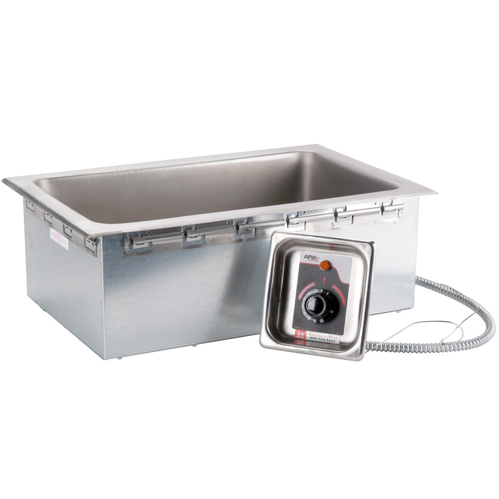 120V APW Wyott HFW-1D Insulated Drop In Food Warmer with Drain