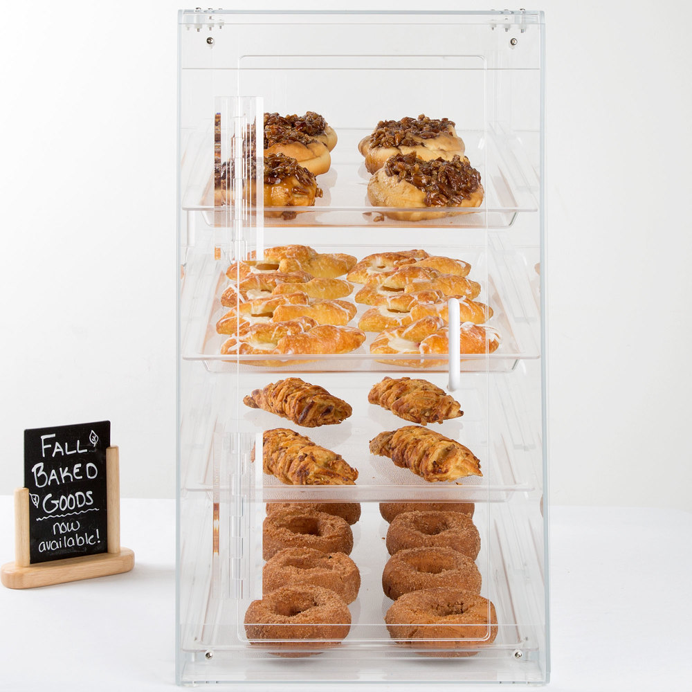 "Cal-Mil 1012-S Four Tier U-Build Classic Pastry Display Case - 13 1/2"" x 21"" x 24 1/2"""