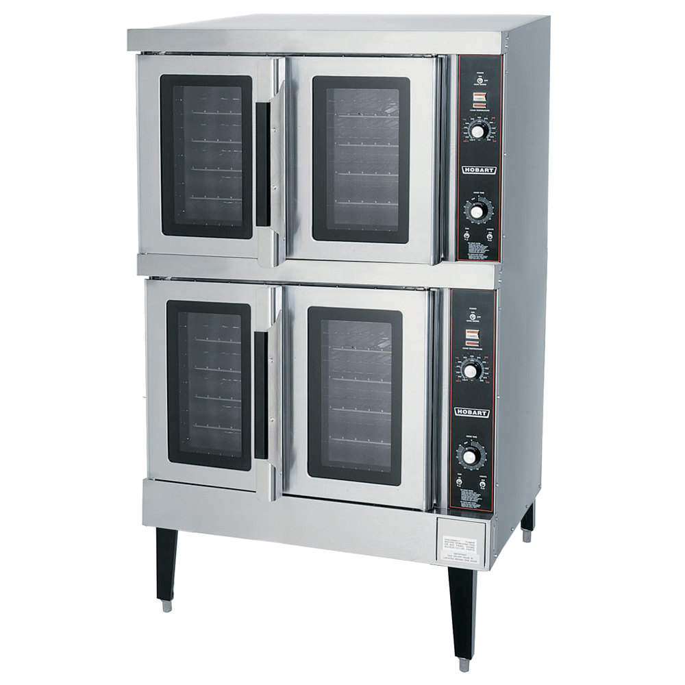 hobart hec502 double deck full size electric convection oven 240v 3 phase 12 5 kw. Black Bedroom Furniture Sets. Home Design Ideas