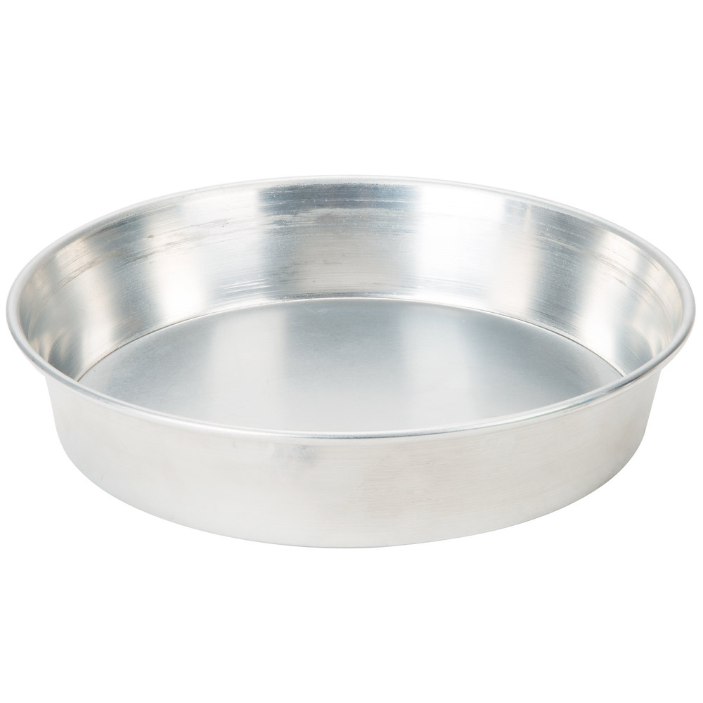 "American Metalcraft A90082 8"" Tapered / Nesting Aluminum Pizza Pan - Standard Weight Aluminum"