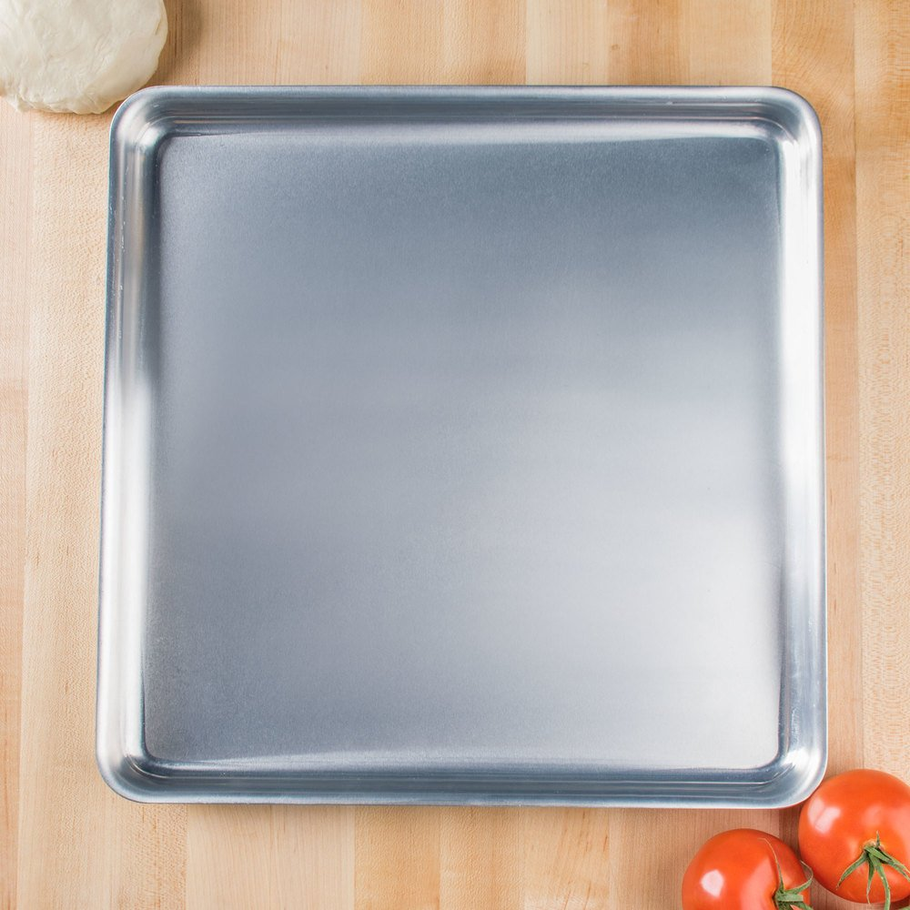 "American Metalcraft SQ1410 14"" x 14"" x 1"" Heavy Weight Aluminum Pizza Pan"