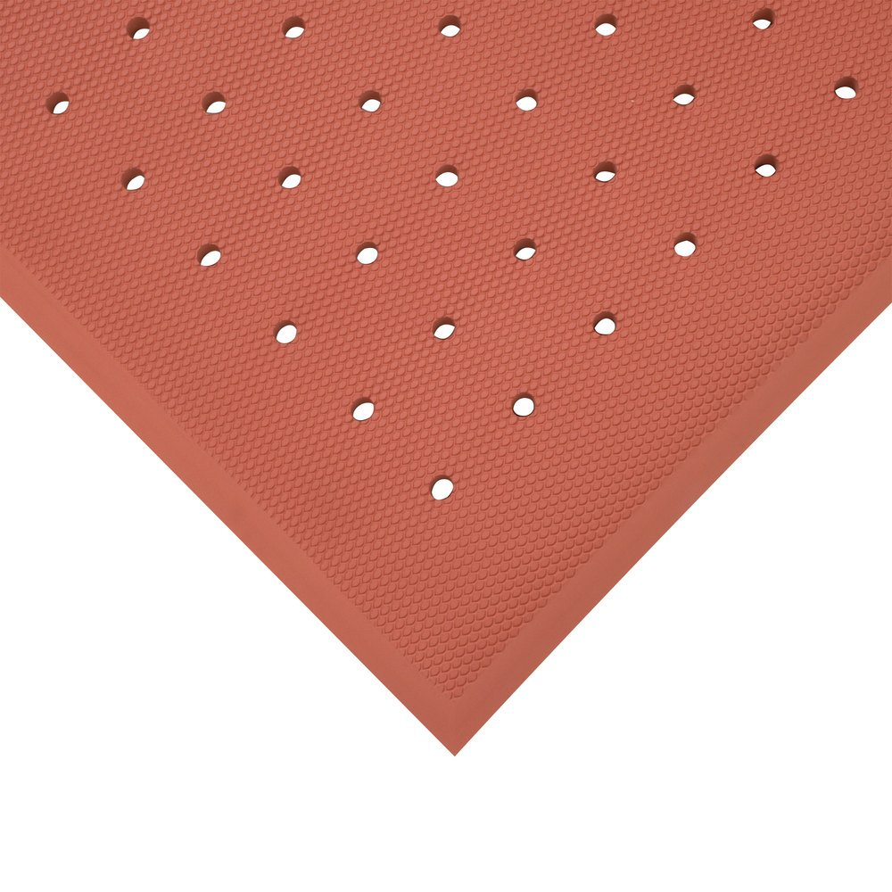 "Cactus Mat 5000-R35 VIP Red Cloud 3' x 5' Red Grease-Proof Rubber Floor Mat - 3/4"" Thick"