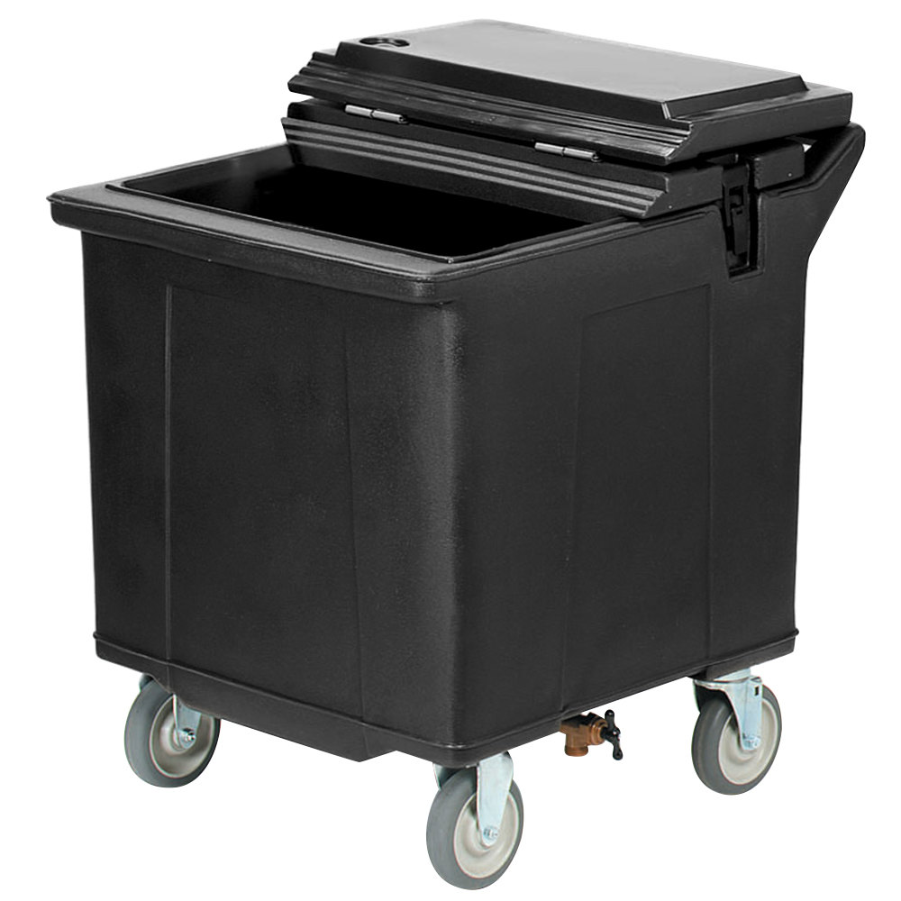 Carlisle IC225403 Black Cateraide 125 lb. Mobile Ice Caddy