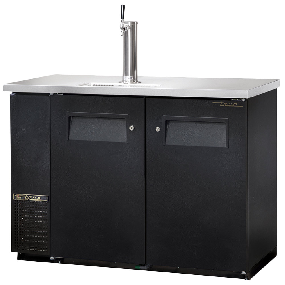 "True TDB-24-48 49"" Back Bar Cooler Direct Draw Beer Dispenser with Two Solid Doors"