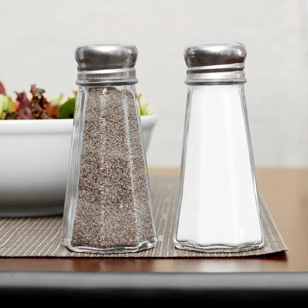 3 Oz. Mushroom Top Paneled Salt And Pepper Shakers