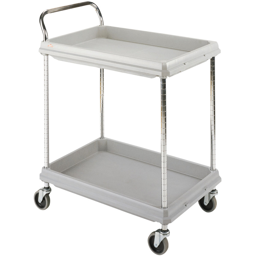 "Metro BC2030-2DG Gray Utility Cart with Two Deep Ledge Shelves 32 3/4"" x 21 1/2"""