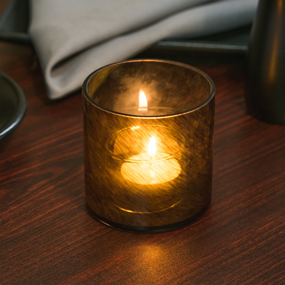 "Sterno Products 80208 3 1/4"" Nutmeg Swirl Liquid Candle Holder"