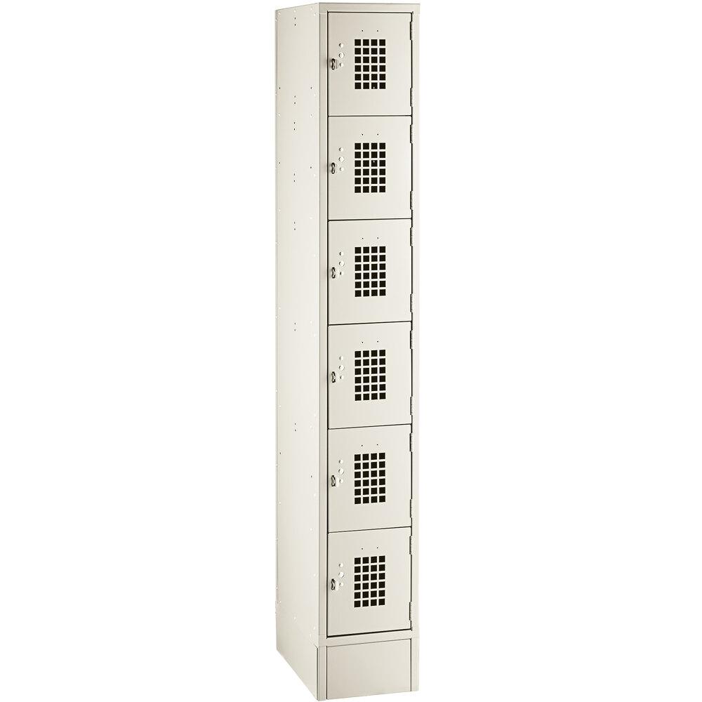 Regency Space Solutions Beige 12 inch x 18 inch x 78 inch Single, 6 Tier Locker