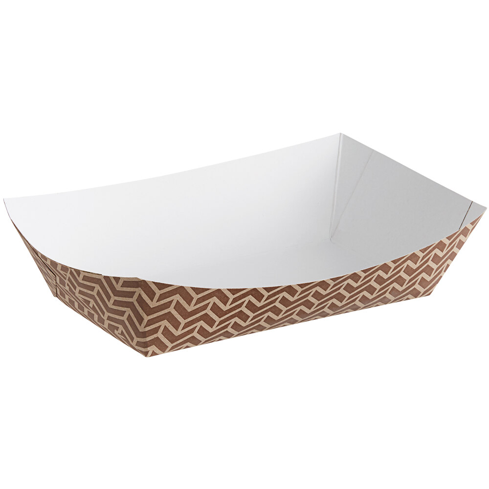Carnival King #500 5 lb. Cornerstone Paper Food Tray - 250/Pack