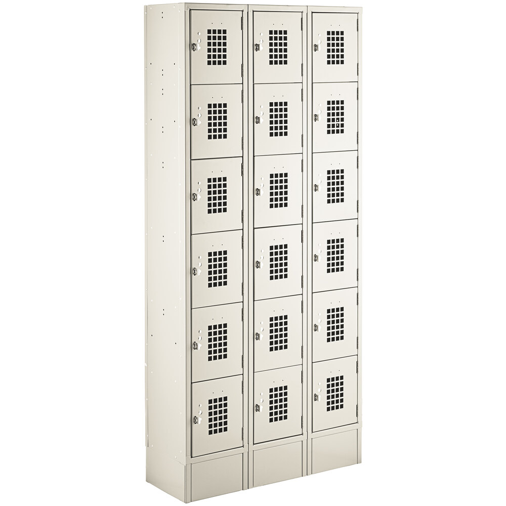 Regency Space Solutions Beige 36 inch x 12 inch x 78 inch 3 Wide, 6 Tier Locker