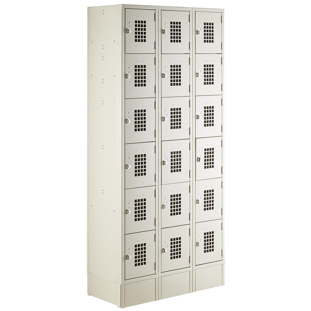 Regency Space Solutions 600LCK1536 Beige 36 inch x 15 inch x 78 inch 3 Wide, 6 Tier Locker