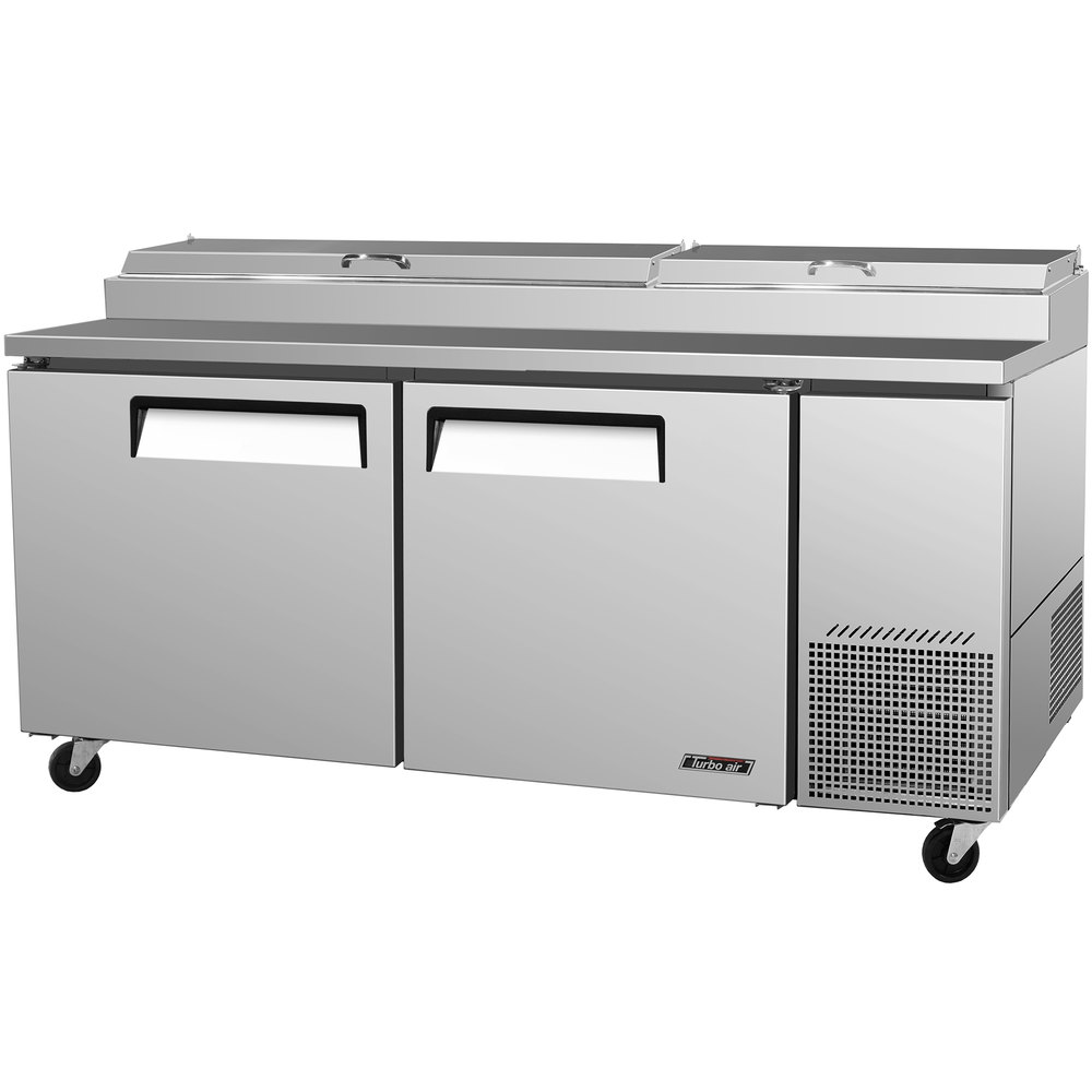 "Turbo Air TPR-67SD 67"" Two Door Pizza Prep Table"