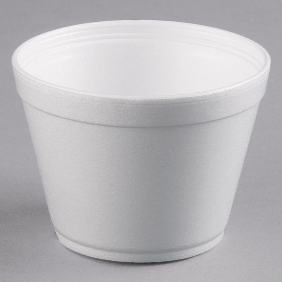 Dart 16mj32 16 Oz Squat White Foam Bowl 25 Pack