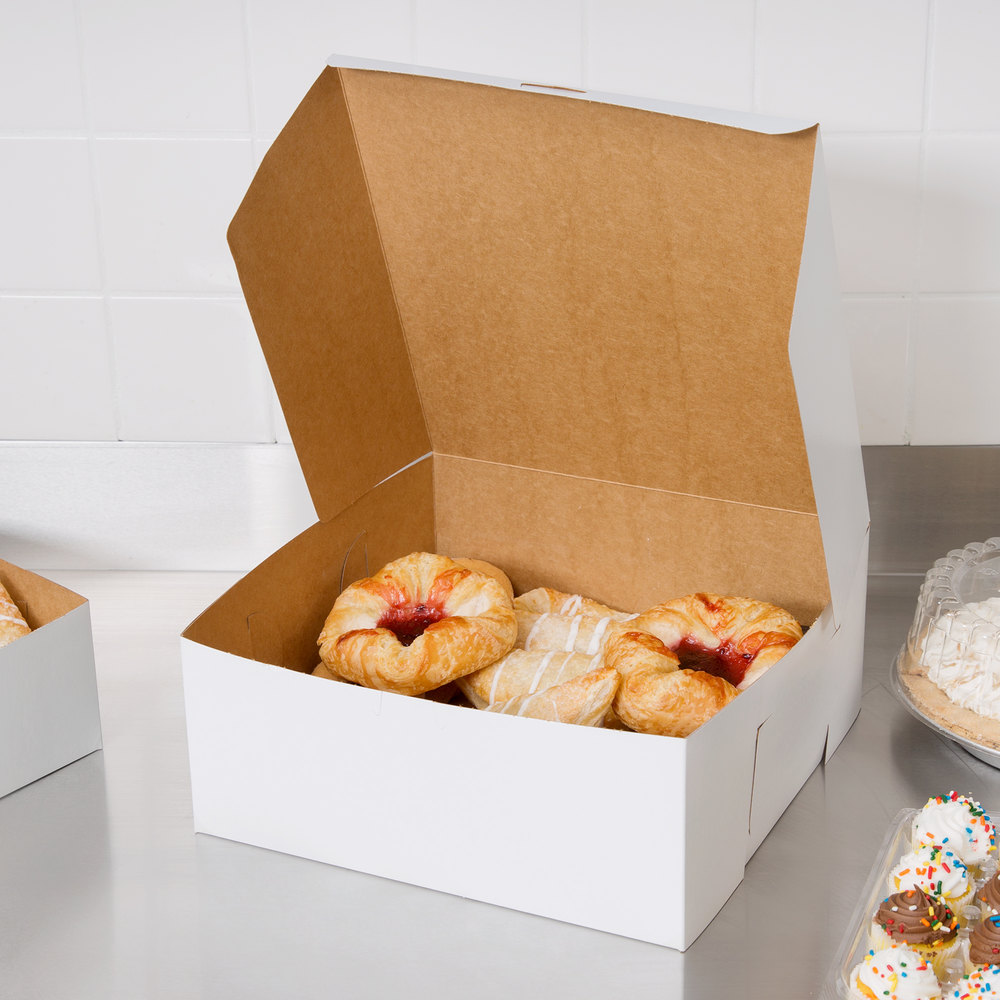 "Southern Champion 987 12"" x 12"" x 5"" White Cake / Bakery Box - 100/Bundle"