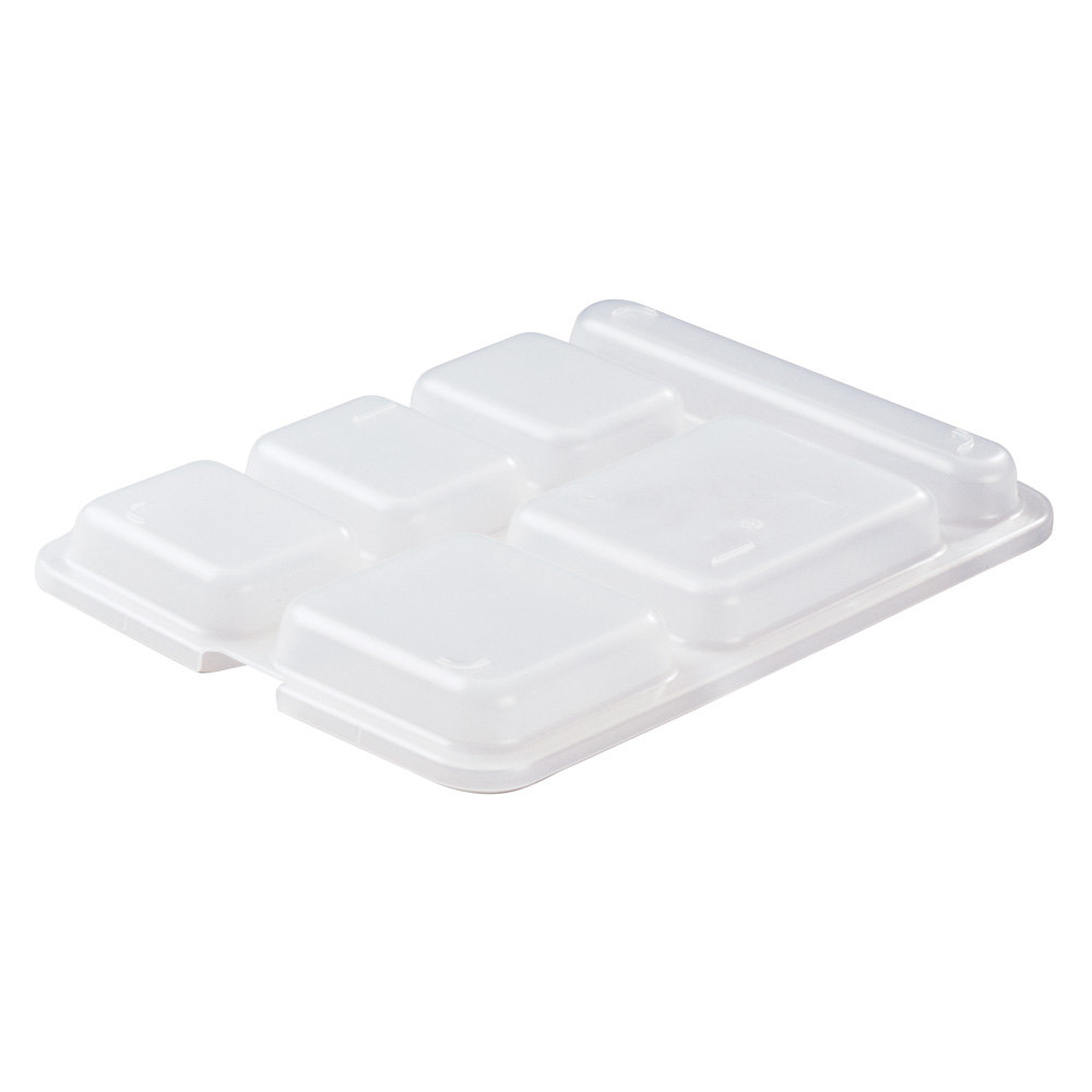"Cambro 10146DCPC190 10"" x 14 3/16"" Translucent Serving Tray Lid - 24/Case"