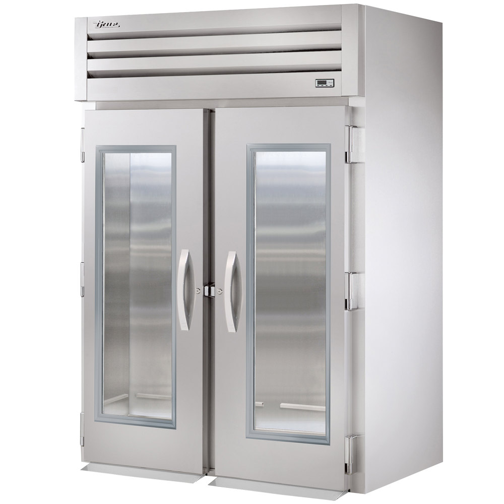 True STR2RRT-2G-2S Specification Series Two Section Roll Through Refrigerator with Front Glass and Rear Solid Doors - 75 Cu. Ft.
