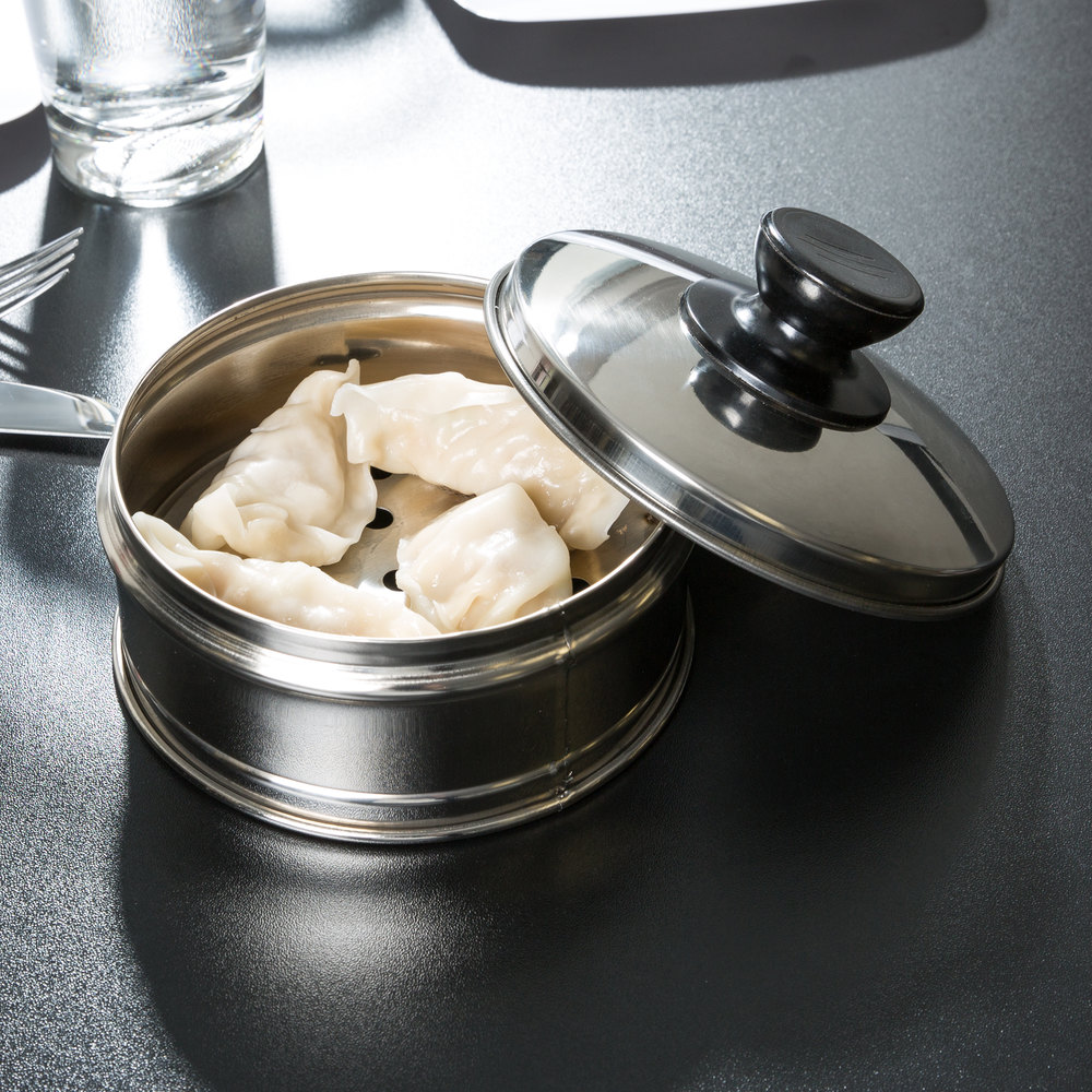 "Town 36608 8 1/4"" Stainless Steel Dim Sum Steamer Cover - 12/Pack"