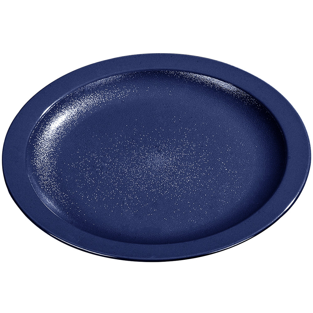 "Carlisle PCD21050 Blue 10"" Polycarbonate Narrow Rim Plate 48 / Case"