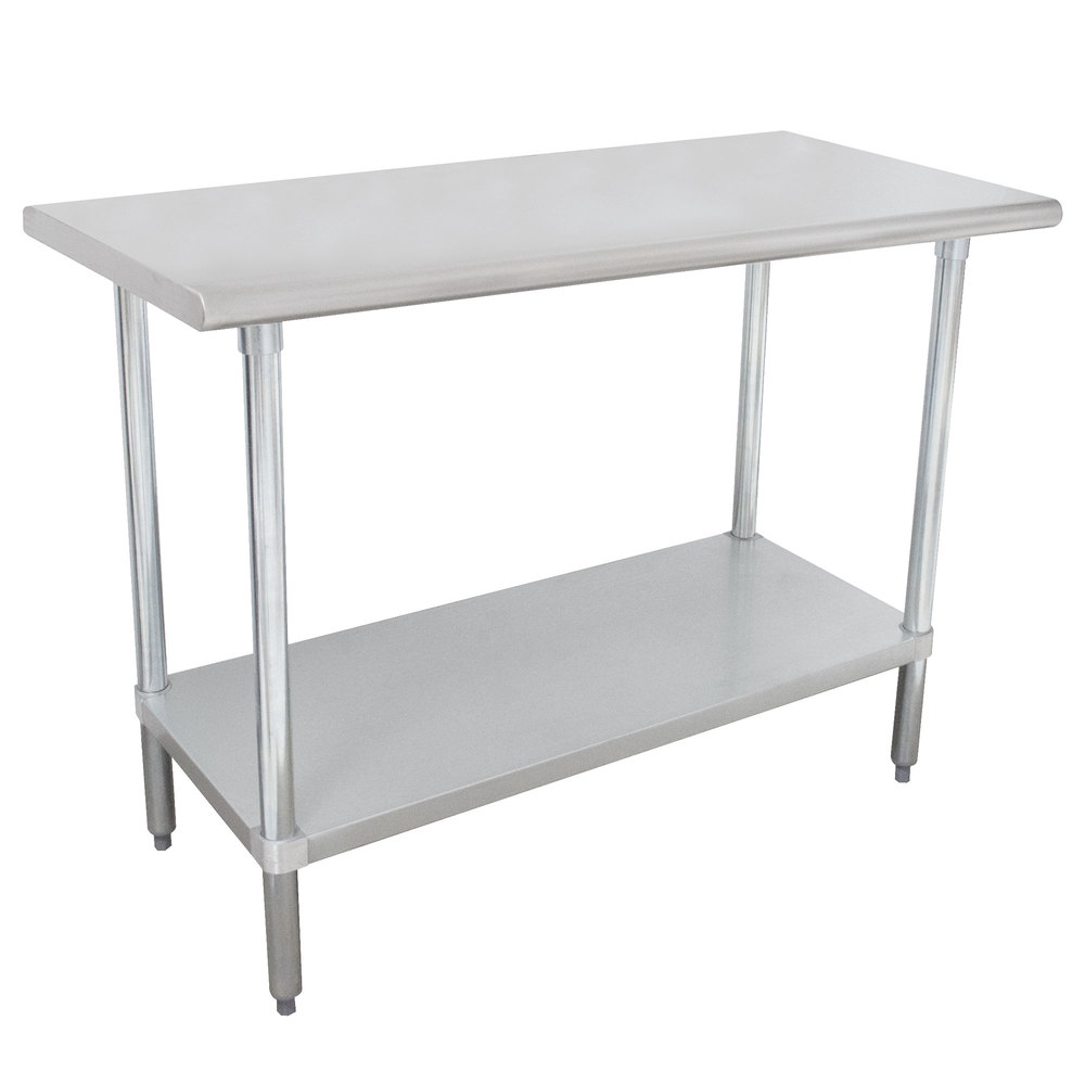 "Advance Tabco MSLAG-246-X 24"" x 72"" 16 Gauge Stainless Steel Work Table with Undershelf"