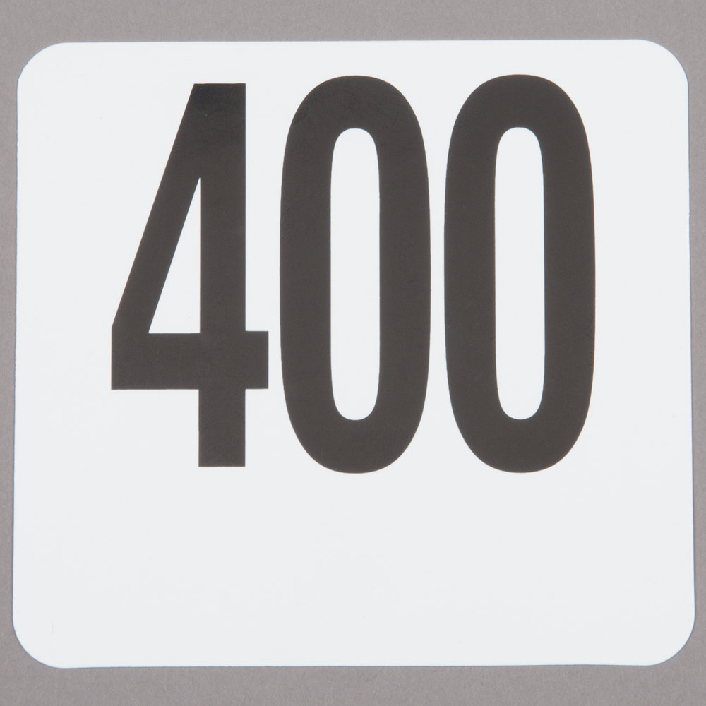 American Metalcraft 4400 Plastic Table Number Set