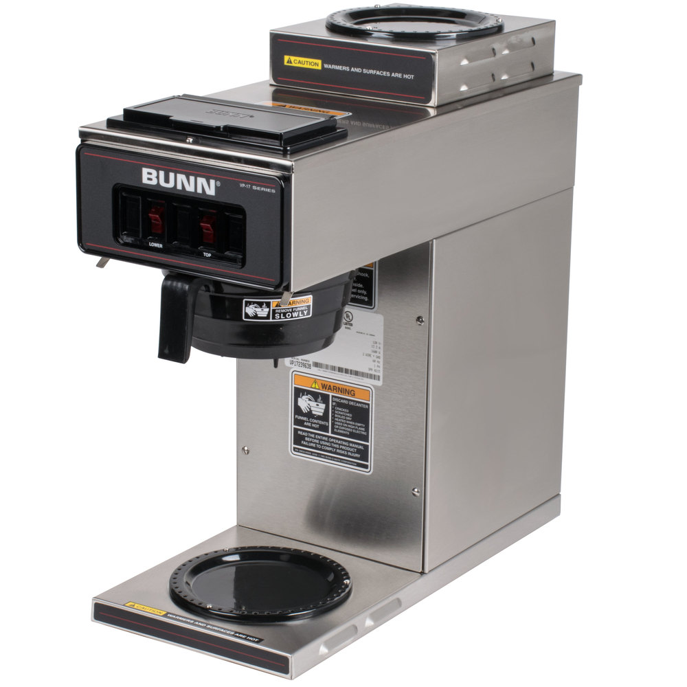 Bunn 13300.0002 VP17-2 SS Low Profile Pourover Coffee