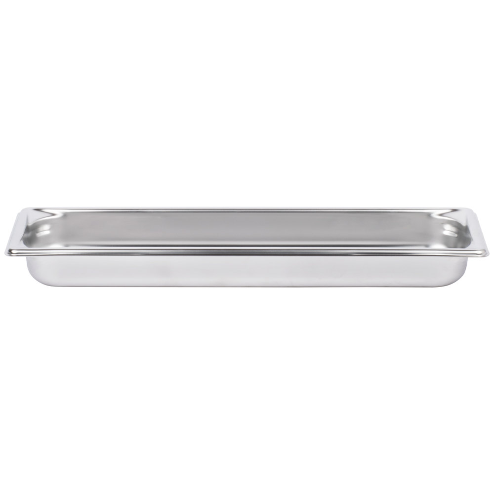"Vollrath 90552 Super Pan 3® 1/2 Size Long Anti-Jam Stainless Steel Steam Table Pan - 2"" Deep"