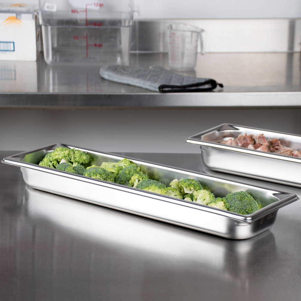 "Vollrath 90552 Super Pan 3® 1/2 Size Long Anti-Jam Stainless Steel Steam Table / Hotel Pan - 2"" Deep"
