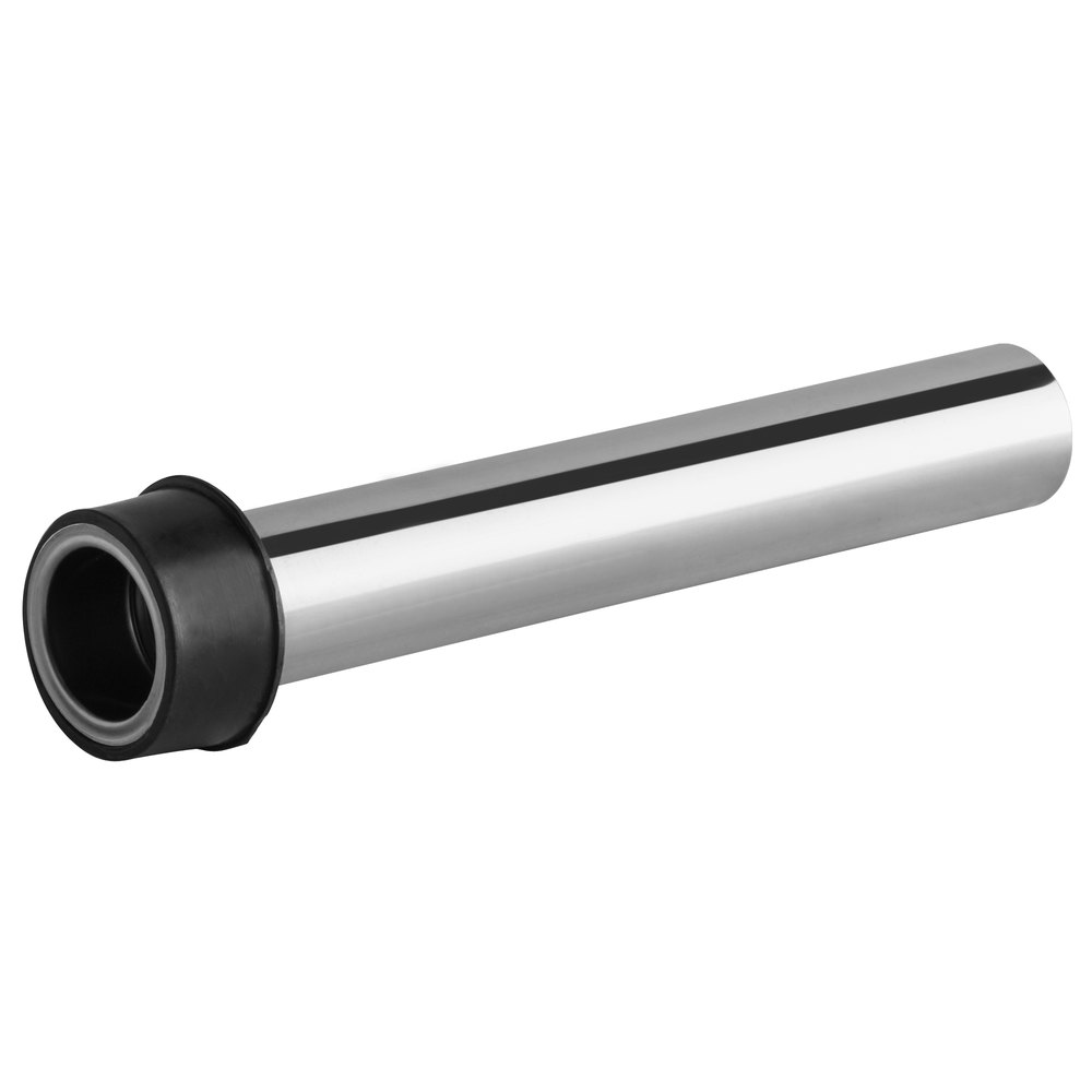 Regency 8 inch Stainless Steel Overflow Pipe for 1 3/4 inch Drains