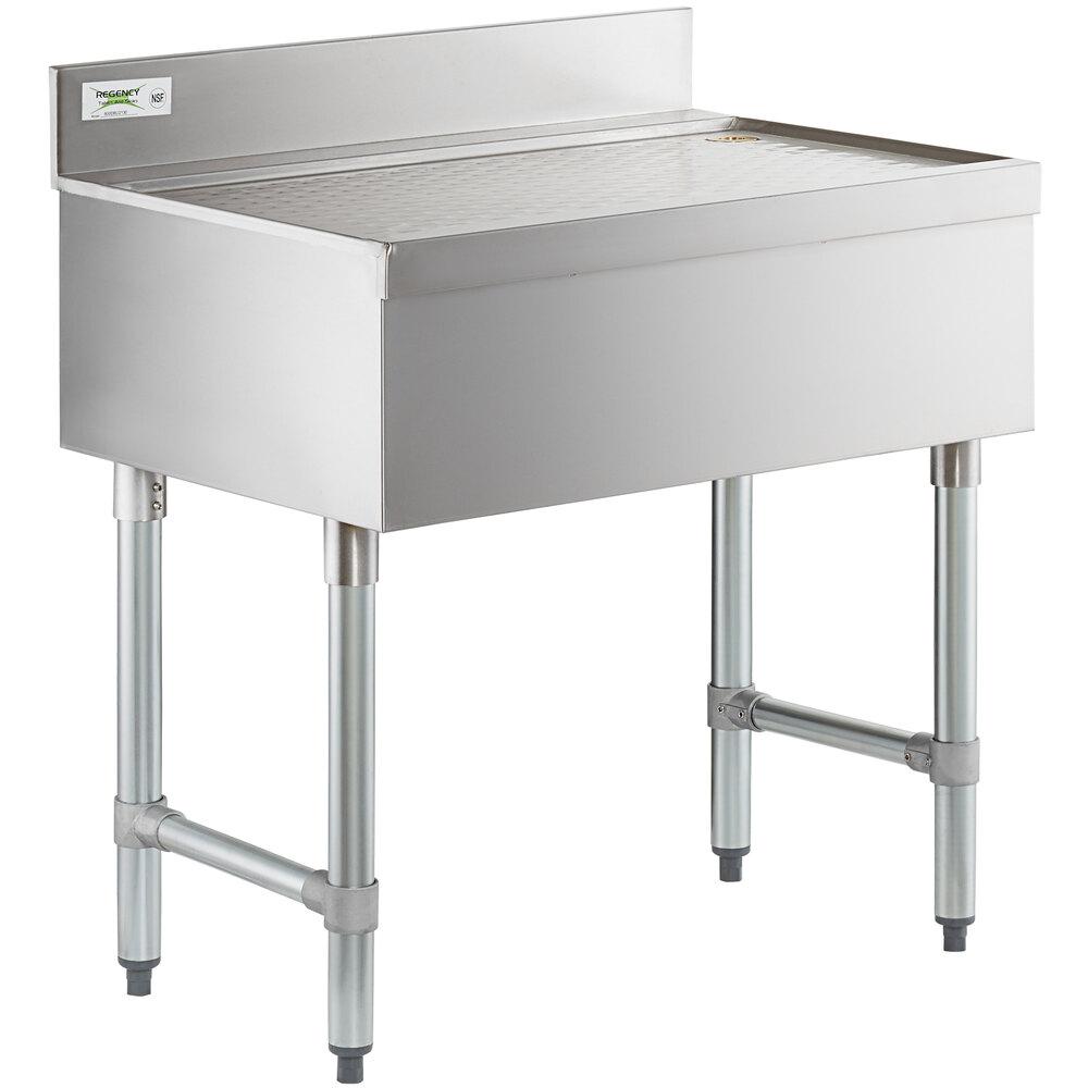 Regency Stainless Steel Underbar Drainboard - 30 inch x 21 inch