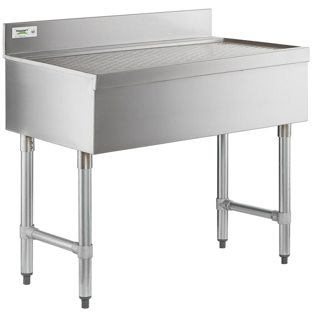 Regency Stainless Steel Underbar Drainboard - 36 inch x 21 inch