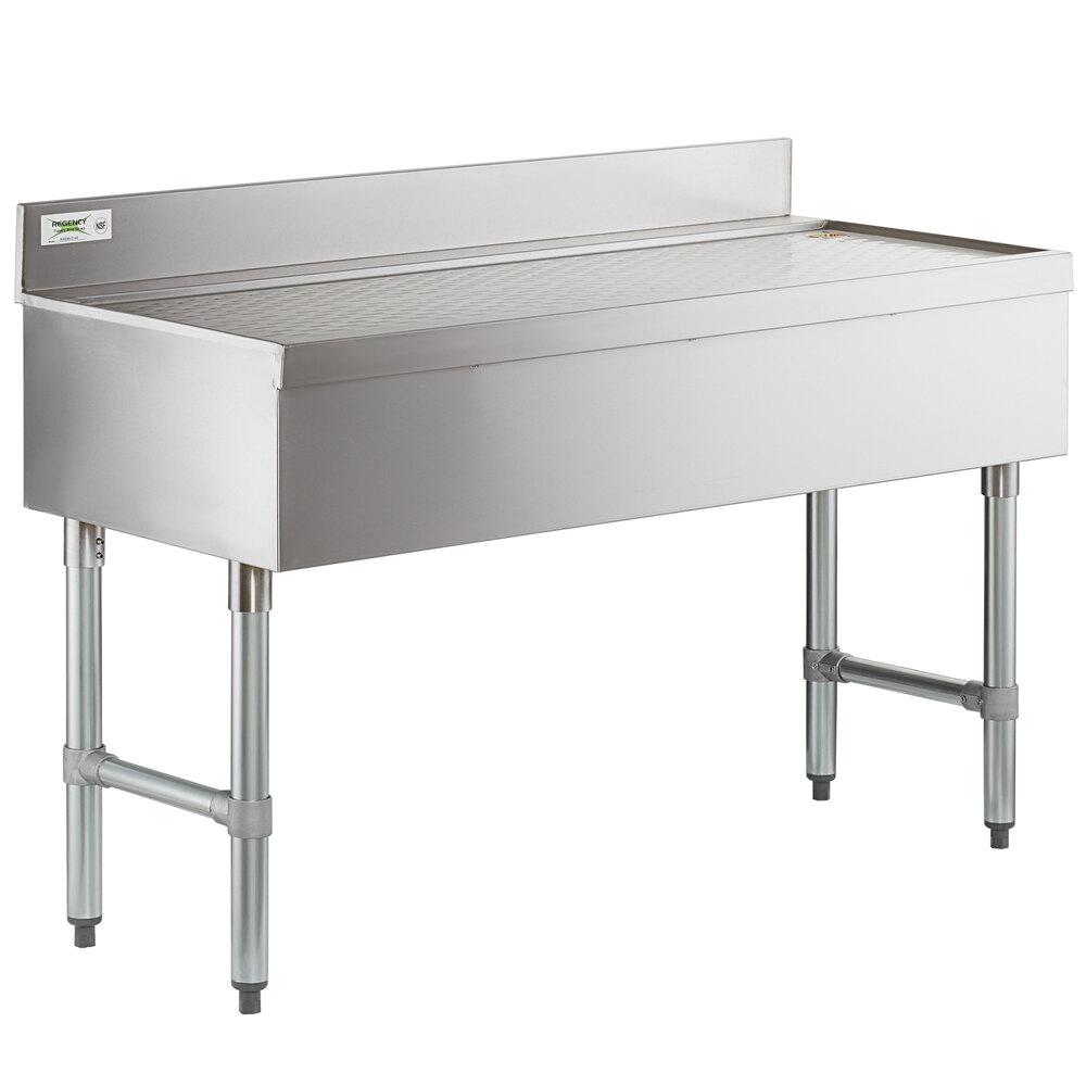 Regency Stainless Steel Underbar Drainboard - 48 inch x 21 inch