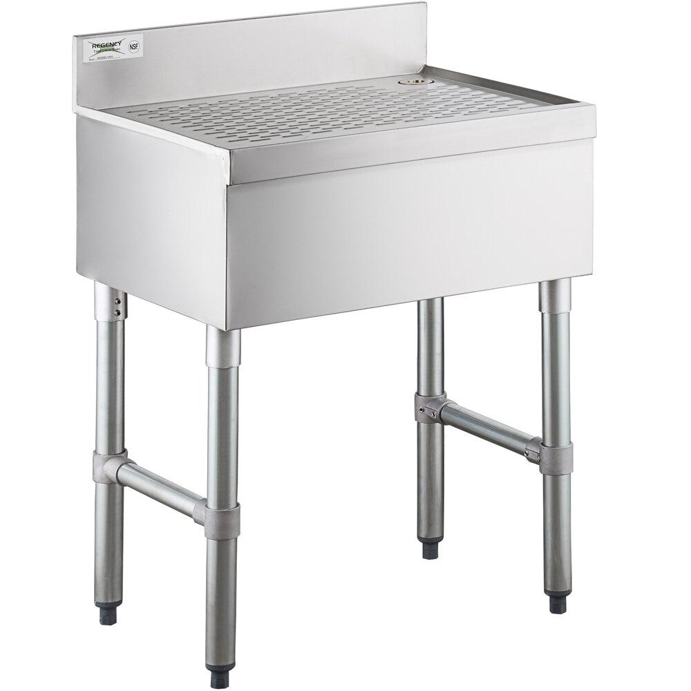 Regency Stainless Steel Underbar Drainboard - 24 inch x 18 inch