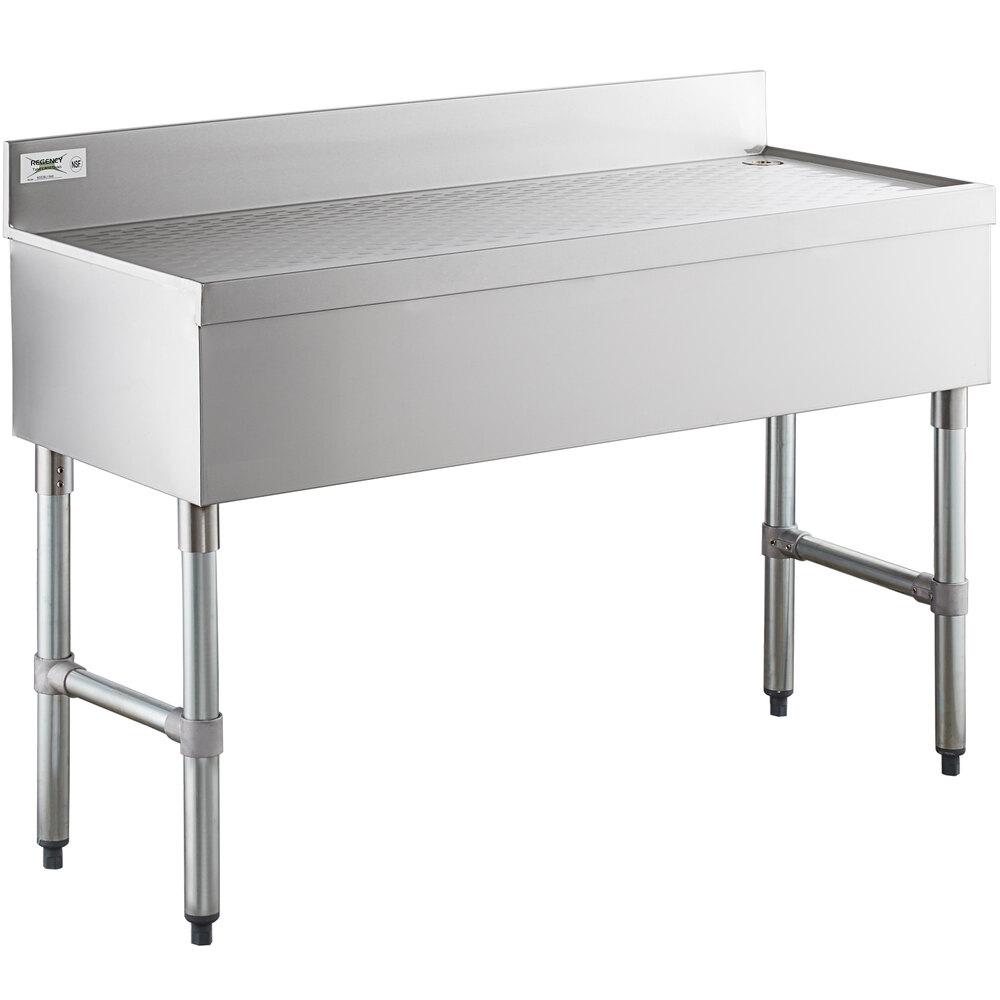 Regency Stainless Steel Underbar Drainboard - 48 inch x 18 inch
