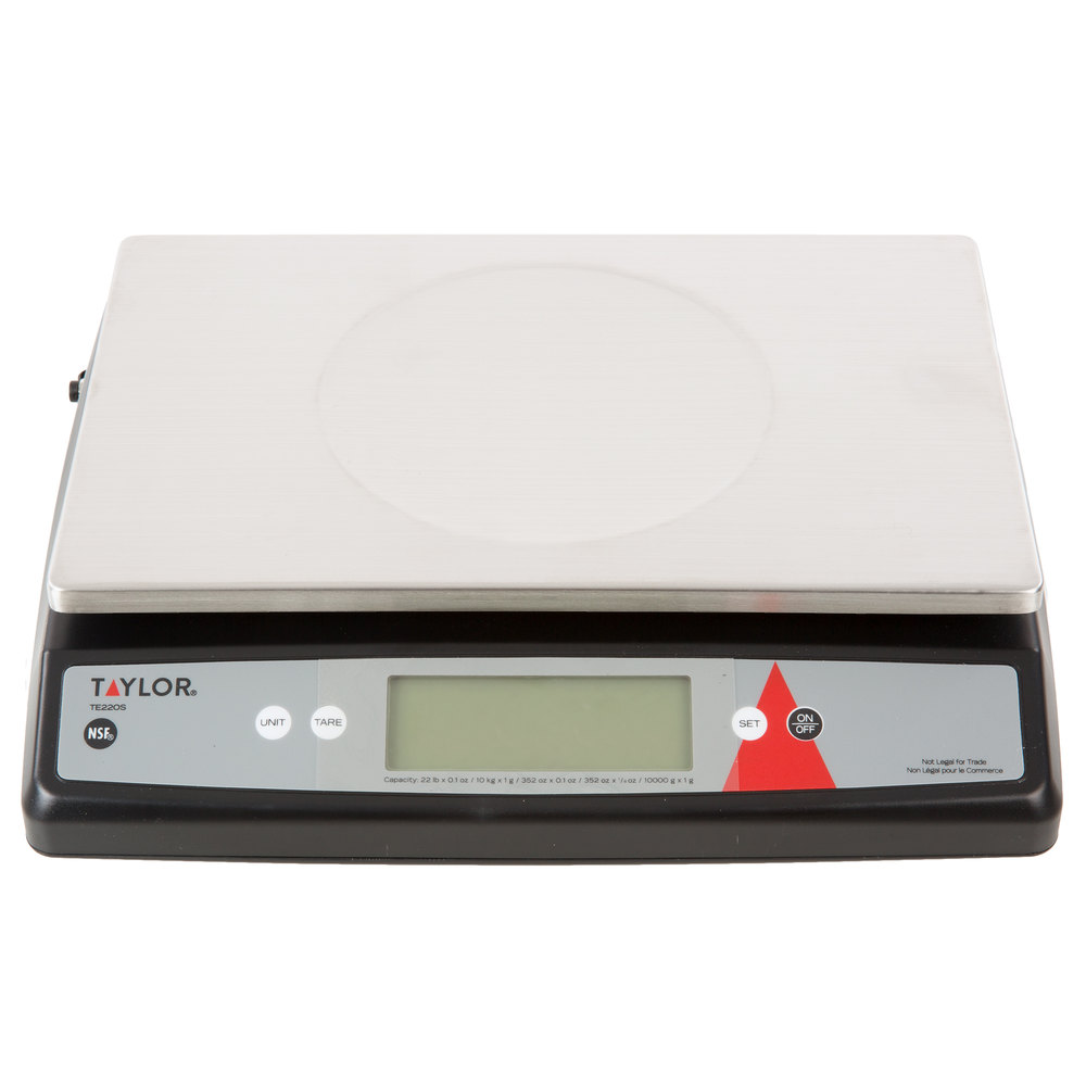 Taylor TE22OS 22 lb. Digital Portion Control Scale with an Oversized ...