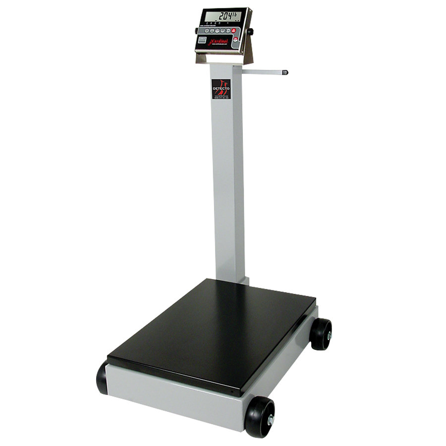 Cardinal Detecto 5852F-204 500 lb. Portable Digital Floor Scale with 204 Indicator, Legal for Trade
