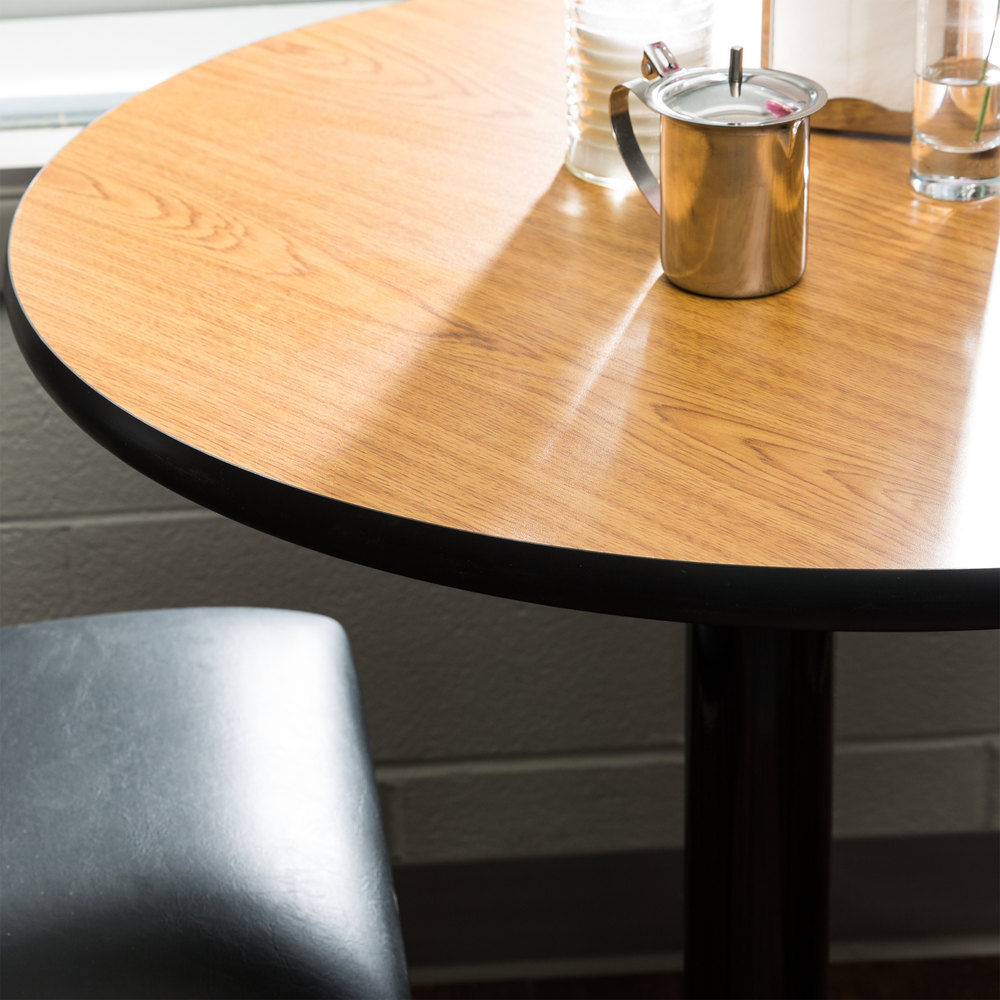 Table Seating 36 Laminated Round Table Top Reversible Walnut Oak