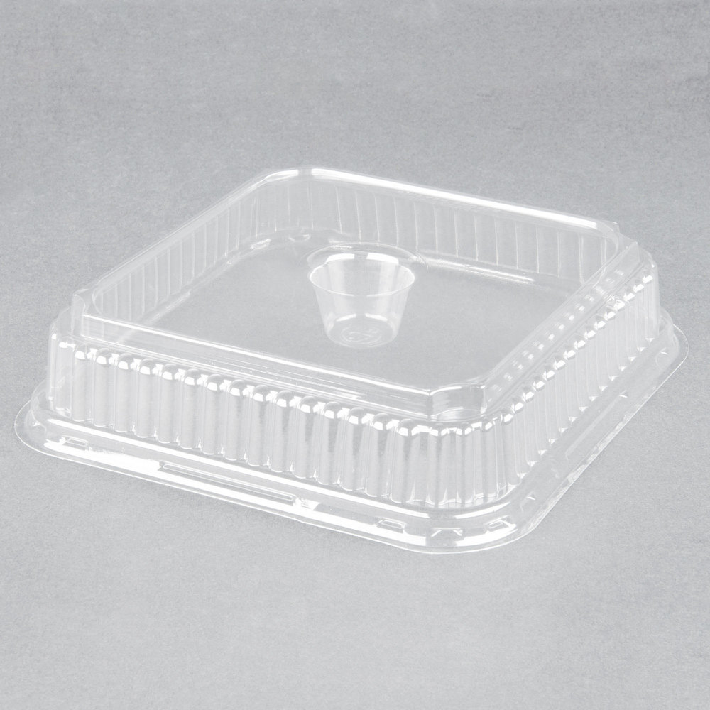 Genpak 95304 Clear Dome Lid for Genpak 55304 Dual Ovenable 4 Cup Plastic Muffin Pan - 125/Pack