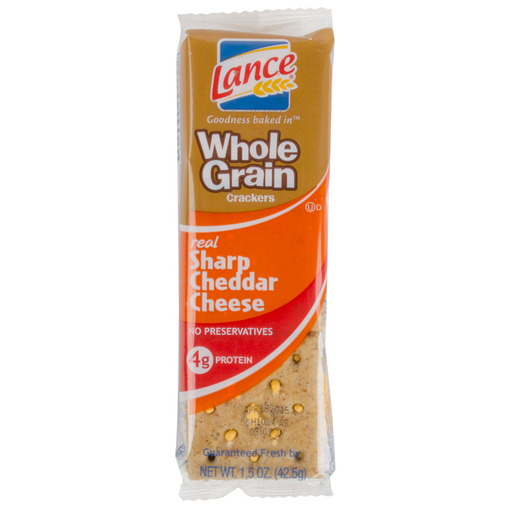 Lance Whole Grain Sharp Cheddar Sandwich Crackers 20 Count ...