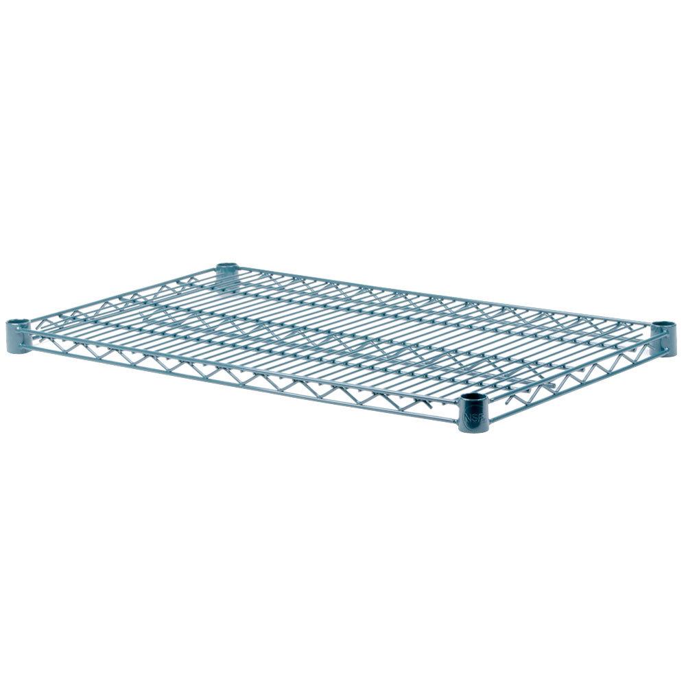Regency 14 inch x 30 inch NSF Green Epoxy Wire Shelf