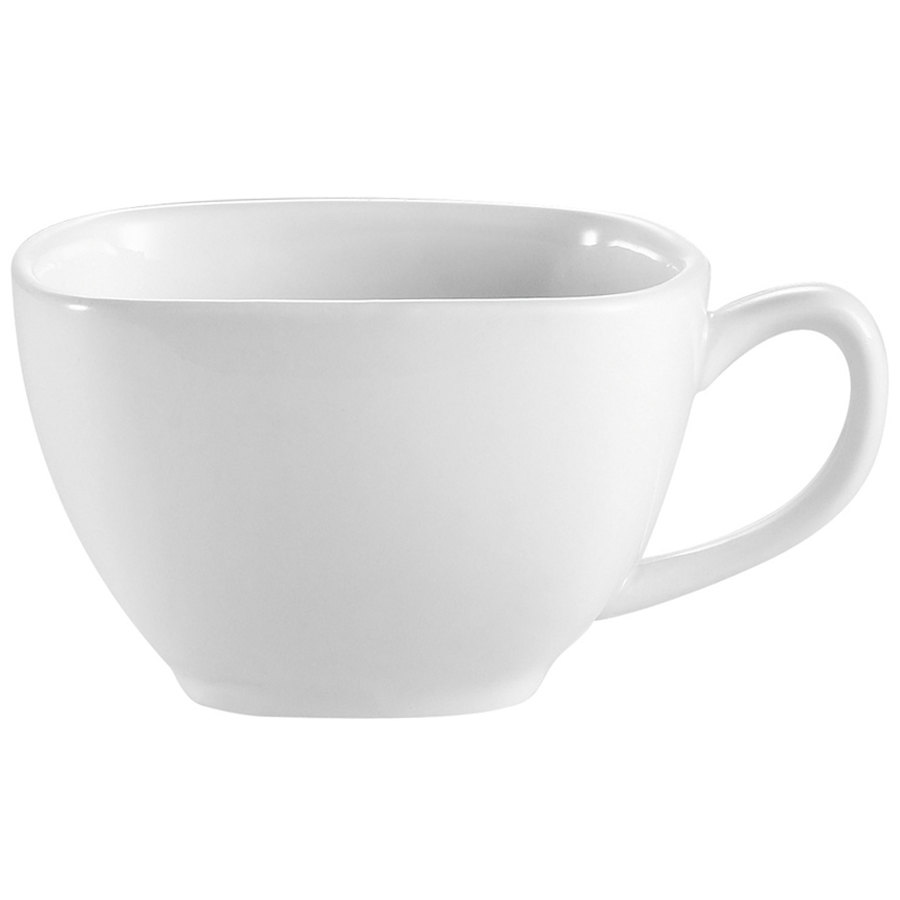 8 oz. Bright White Square Porcelain Cup - 36/Case