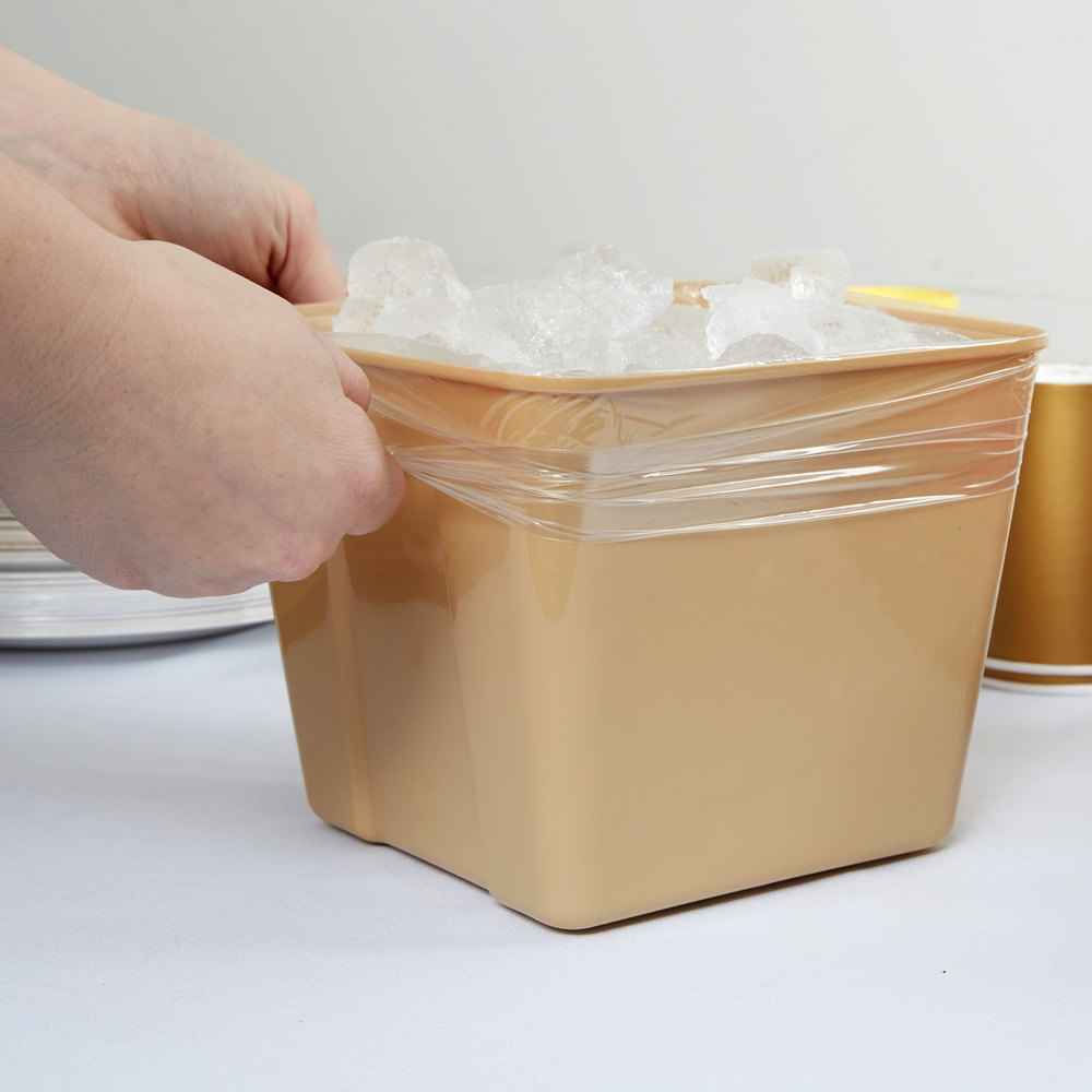 "Plastic Food Bag / Ice Bucket Liner 8"" x 4"" x 12"" - 1000/Box"