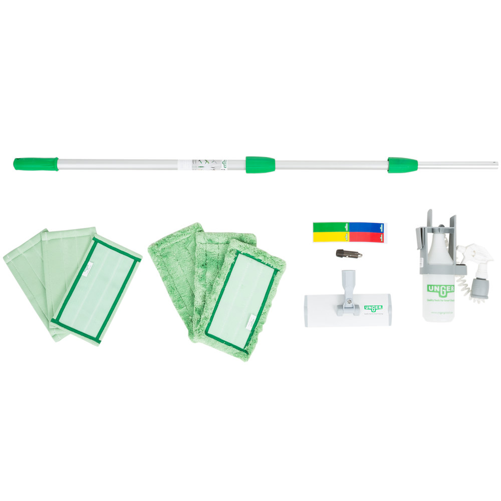 Unger CK053 10-Piece Indoor Window Cleaning Kit