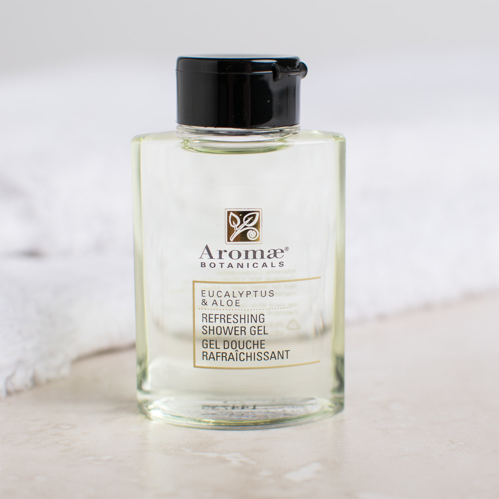 Aromae Botanicals Eucalyptus and Aloe Shower Gel 1 oz. - 160/Case