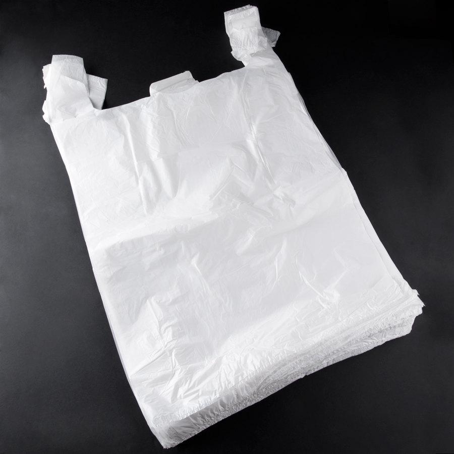 Large white t shirt bag 450 case for Plastic t shirt bag