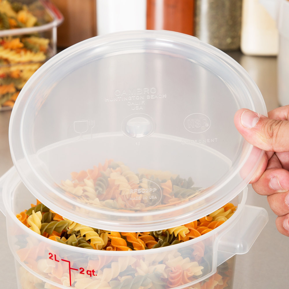 Cambro RFSC2PP190 Translucent Lid for Cambro Translucent 2 and 4 Qt. Round Containers