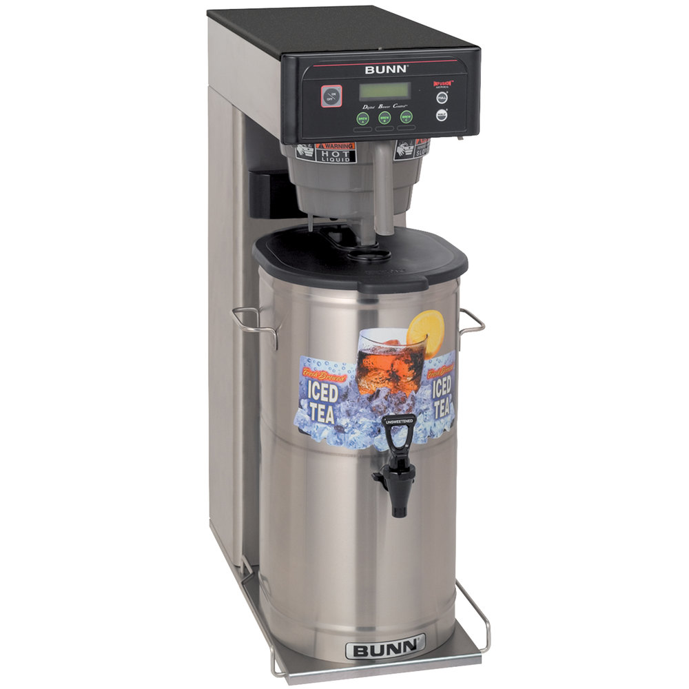 "Bunn 35700.0033 ITCB-DV Infusion Coffee and Tea Brewer with 25 3/4"" Trunk and Sweetener Function - Dual Voltage"