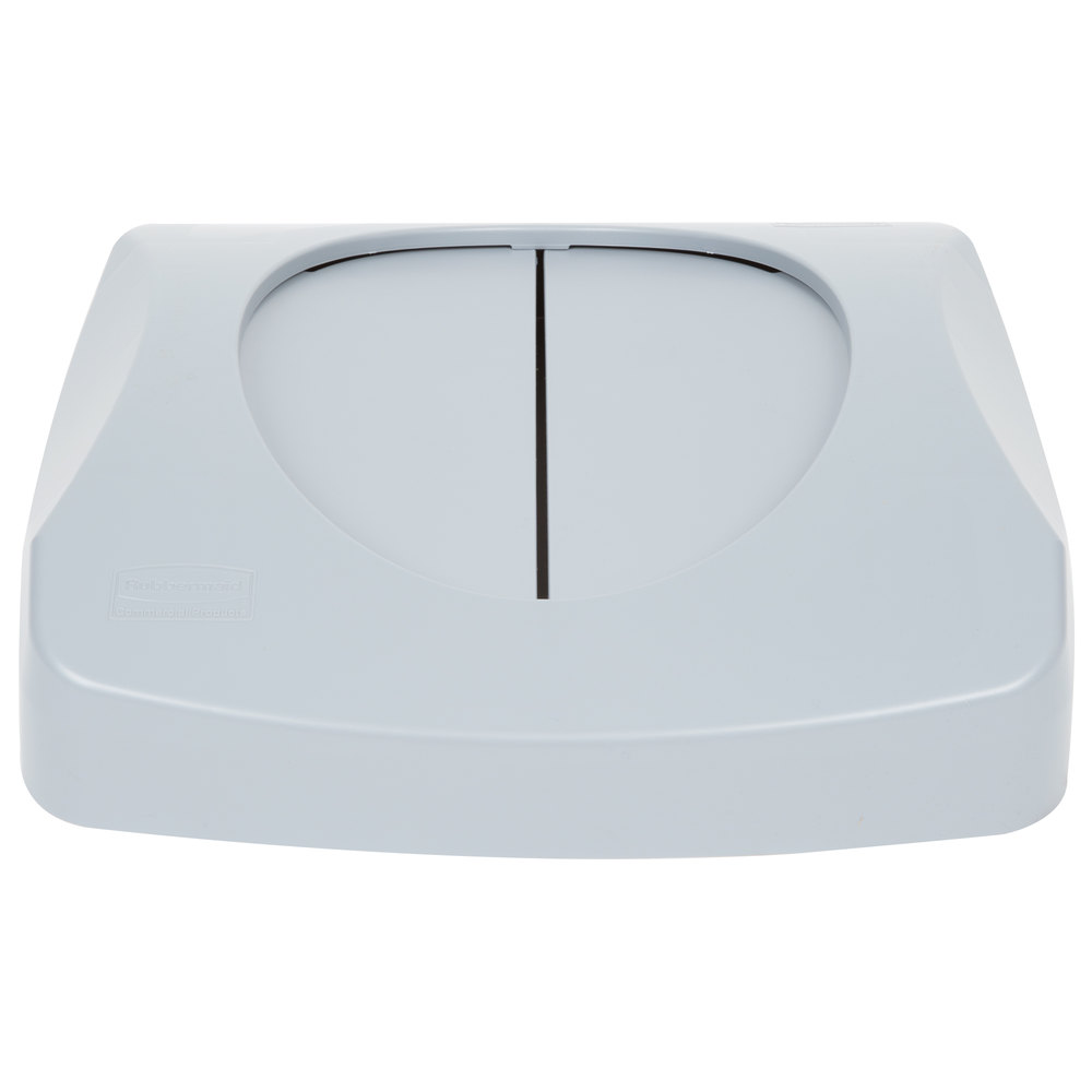 Rubbermaid Fg268988gray Untouchable Gray Square Trash Can Lid